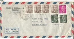 CC A CHILE 1957 AMBULANTE 4 OÑATE SAN PRUDENCIO 4 SELLOS FRANCO DE PERFIL 10 PTS - 1931-Aujourd'hui: II. République - ....Juan Carlos I