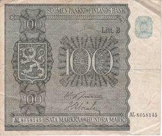 BILLETE DE FINLANDIA DE 100 MARKKAA DEL AÑO 1945  (BANKNOTE) - Finlande