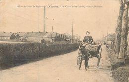 CPA 64 Pyrénées-Atlantiques Le Boucau Environs De Bayonne Les Usines Saint Gobain Route De - Attelage Ane 1905 - Boucau
