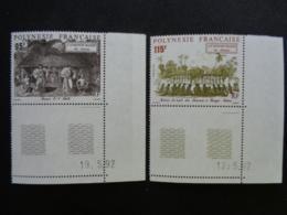 POLYNESIE 1992 Y&T N° 410 à 412 COINS DATES ** - LE MONDE MAOHI - French Polynesia