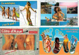 Lot De 20 Cartes Modernes - Belles Filles Nues Ou Seins Nus - Très Bon état - Avec Ou Sans Paysages - Fine Nudes (adults < 1960)