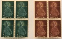 POR#4390-Set Of 2 Blocks Of 4 MNH Stamps Rainha Santa Isabel E São Teotónio - Portugal - 1958 - Blocs-feuillets