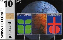 Switzerland: Swiss Telecom, B-52 09/96 Brot Für Alle - Fastenopfer - Schweiz