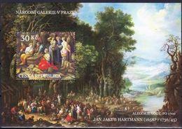 Czechia 2008, Works Of Arts On Stamps - Jan Jakub Hartmann, MNH Bloc - Tchéquie