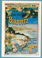 Bains De Mer De BIARRITZ Desservi Par Le Sud-Express - Chemins De Fer D'Orléans Et Du Midi  - Affiche Ancienne - Altri