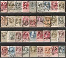 België.  Leopold II, Grote Baard. + 81/83, 63 Verschillende Perfins. Mooi. - Perforés