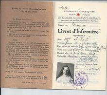 LIVRET DE DAME INFIRMIERE    COMITE DE BAYEUX   Soeure  ST PAUL  1936 - Non Classés