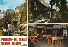 Cartolina Primiero Val Canali Rifugio Treviso Vedute - Trento
