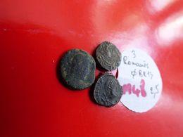 LOT   3  ROMAINES  A REPERTORIER - Monnaies