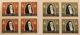 POR#4360-Set Of 2 Blocks Of 4 MNH Stamps Rainha Dona Leonor - Portugal - 1958 - Blocs-feuillets