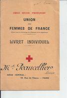 UNION DES FEMMES DE FRANCE  Comite De CAEN  MELLE PEAUCELLIER Imfirmiere Auxiliaire A L'hopital 102 - Vieux Papiers
