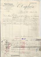 BAYEUX  FACTURE ENVOYEE A LA MERE SUPERIEURE A L'HOTEL DIEU DE BAYEUX 1902 AVEC LE CHEQUE - Bayeux