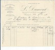 BAYEUX  FACTURE ENVOYEE A LA MERE SUPERIEURE A L'HOTEL DIEU DE BAYEUX 1901 - Bayeux