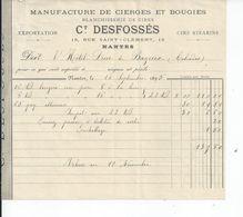 BAYEUX FACTURE ENVOYEE A LA MERE SUPERIEURE A L'HOTEL DIEU DE BAYEUX 1895 - Bayeux
