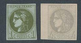 """DP-169: FRANCE: Lot Avec """"BORDEAUX """" N°39C NSG-41B NSG (bord De Feuille) - 1870 Emission De Bordeaux"""