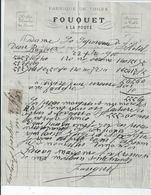 BAYEUX FACTURE ENVOYEE A LA MERE SUPERIEURE A L'HOTEL DIEU DE BAYEUX 1900 - Bayeux