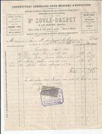 BAYEUX  FACTURE ENVOYEE A LA MERE SUPERIEURE A L'HOTEL DIEU DE BAYEUX 1902 - Bayeux