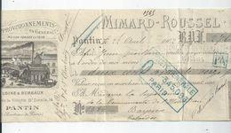BAYEUX  CHEQUE ENVOYEE A LA MERE SUPERIEURE A L'HOTEL DIEU DE BAYEUX 1902 - Bayeux
