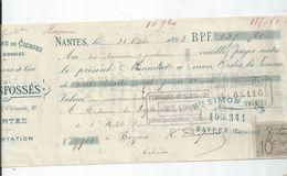 BAYEUX CHEQUE ENVOYE A L'HOTEL DIEU DE BAYEUX - Bayeux