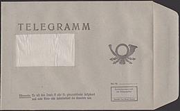 Telegramm Umschlag Ungebraucht Ohne Druckvermerk Ca. 1984  Bzw. 1986, Posthorn, DDR, Germany - Historische Documenten