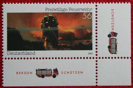 Freiwillige Feuerwehr Fire Brigade Pompiers 2002 Mi 2275 Neuf Sans Charniere POSTFRIS MNH ** Germany BRD / Allemange - [7] Federal Republic