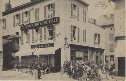 CPA  GIVET  (ARDENNES) 08 - Place Carnot - Café Sebille - Animée - Givet
