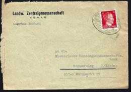 BAHNPOST STRASBURG MULHAUSEN - ZUG 00205 - LAGERHAUS RUFACH - Occupation 1938-45
