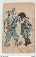 C.P.A  DE  F.F.I   AVEC HITLER  -- Illistateur   J . Nebout - Guerra 1939-45