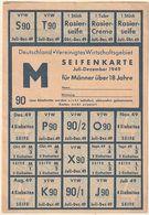 Hist. Dokument / 1949 / 2 Seifenkarten, Deutschland-Vereinigtes Wirtschaftsgebiet (BP44) - Historical Documents