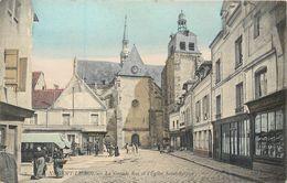 CPA 28 Eure Et Loir Nogent Le Roi La Grande Rue Et L'Eglise Saint Sulpice 1906 - Nogent Le Roi