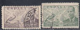 Spain, Scott #C112, C114, Used, Juan De La Clerva And Autogiro, Issued 1941 - Poste Aérienne