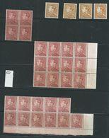 531 Poortman - MNH**  Lot De 31 Timbres. Nuances Différentes. - 1936-51 Poortman