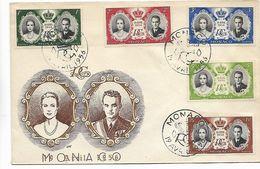 Monaco  N° 473/477  Op F.D.C. - FDC