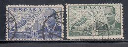 Spain, Scott #C113-C114, Used, Juan De La Clerva And Autogiro, Issued 1941 - Poste Aérienne