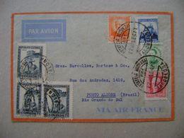 SPAIN / ESPANA - LETTER SENT FROM BARCELONA TO PORTO ALEGRE (BRAZIL) IN 1934 IN THE STATE - 1931-50 Cartas