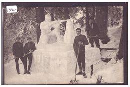 LA CHAUX DE FONDS - CONSTRUCTIONS DE NEIGE EN HIVER 1915 - B ( LEGER PLI EN BAS ) - NE Neuchâtel