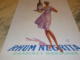 ANCIENNE PUBLICITE  RHUM NEGRITA BARDINET BORDEAUX 1928 - Alcools