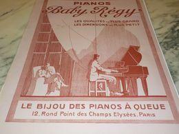 ANCIENNE PUBLICITE PIANOS BABY REGY 1928 - Musik & Instrumente