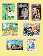Gabon - 10 Timbres Neufs Et Oblitérés - JO Tokyo, Président Léon MBA, Philex Afrique, Congrès Panafricain, Hotel - Gabon (1960-...)