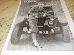 ANCIENNE PUBLICITE BOIS DE BOULOGNE CHAPEAU  ELINA 1928 - Vintage Clothes & Linen