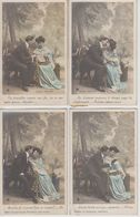 """Série Complète De 5 CPA """"Doux Propos"""" Série N°888 - Couples"""