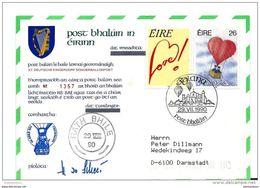 53 - 1 - Carte D'Irlande Vol Ballon 1990 - Montgolfier