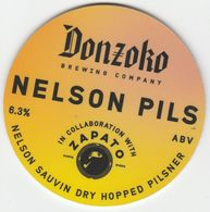 DONZOKO BREWING COMPANY  (HARTLEPOOL, ENGLAND) - NELSON PILS - KEG CLIP FRONT - Letreros