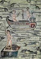 Mosaique Religieuse - Aquileia - Basilique - Scènes De Pêche - CPM - Voir Scans Recto-Verso - Tableaux, Vitraux Et Statues