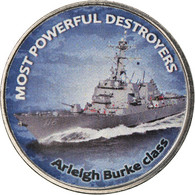 Monnaie, Zimbabwe, Shilling, 2018, Warship -  Destroyer Arleigh Burke, SPL - Zimbabwe