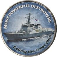 Monnaie, Zimbabwe, Shilling, 2018, Warship -  Destroyer Sejong, SPL, Nickel - Zimbabwe