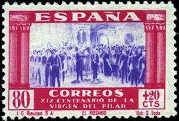 España 0896 (*) El Pilar. 1940. Sin Goma - 1931-50 Nuovi