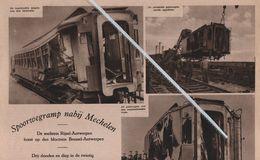 SPOORWEGRAMP..1931..NABIJ MECHELEN /PAUL WIESEN MORTSEL/MEJ.VUYLSTEKE/ LATIJNSCHE RETORIKAKLAS BERCHEM/ DEURNE - Unclassified