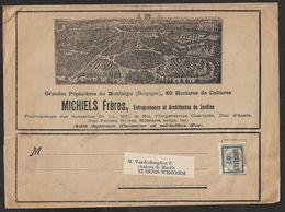 1907 BELGIQUE - PREOBL. 1C  - IMPRIMÉ ILLUSTRÉ PUBLICITÉ - ARCHITECTES DE JARDINS A ST DENIS WESTREM - 1893-1907 Coat Of Arms