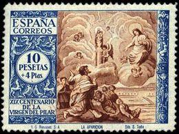 España 0902 * El Pilar. 1940. Charnela - 1931-Hoy: 2ª República - ... Juan Carlos I
